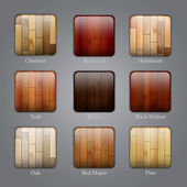 Set of wood icons — Vetorial Stock