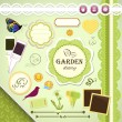 Royalty-Free Stock Векторное изображение: Scrapbooking Set: My Garden Diary