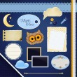 Royalty-Free Stock Vector Image: Scrapbooking Set: Night Time