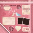 Scrapbooking Set: Wedding - Image vectorielle