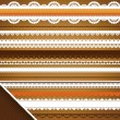 Scrapbooking Set: Ornate ribbons — Stock Vector