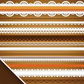 Scrapbooking Set: Ornate ribbons — Stock Vector