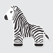 Cartoon Zebra — Stock Vector