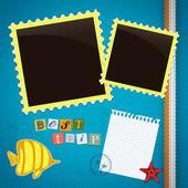 Summer journey memory book — Stock Vector