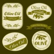 Olive oil vintage labels — Stock Vector