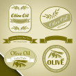 Stock Vector: Olive oil vintage labels