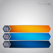 Abstract modern options template — Stock Vector