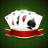 казино фон с игральных карт — Cтоковый вектор