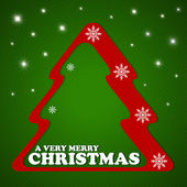 メリー クリスマスのポストカード — ストックベクタ