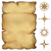 Alte pergament-karte — Stockvektor
