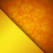 Orange background with ornament — Vector de stock