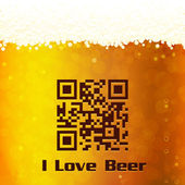 I Love Beer background — Stock Vector