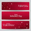 Banners for St. Valentine's Day — Stock Vector