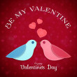 Background for St. Valentine's Day — Imagens vectoriais em stock