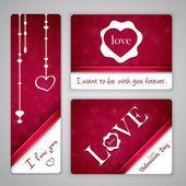 Bannery pro den svatého Valentýna — Stock vektor