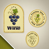 Wine labels — Stock Vector