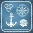 Nautical symbols — Stock Vector #43154269
