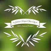 图形橄榄树枝 — 图库矢量图片