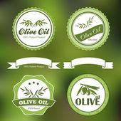 纯天然橄榄油标签 — 图库矢量图片