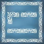 Seamless floral tiling border — Stock Vector