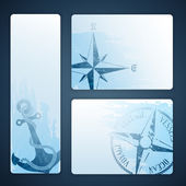Nautical banners — Stock Vector
