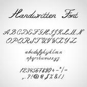 Handwritten Font, ink style — Stock Vector