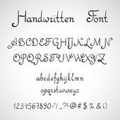 Handwritten Font, ink style — Vector de stock