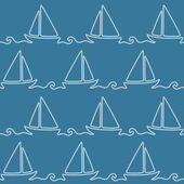 Seamless nautical rope pattern — Stockvector