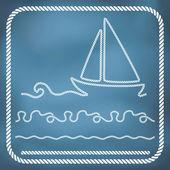 Nautical rope borders — Stock Vector