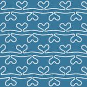 Nautische touw patroon — Stockvector