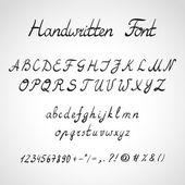 Handwritten Font, ink style — Wektor stockowy