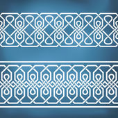 Seamless geometric tiling borders — Stock Vector