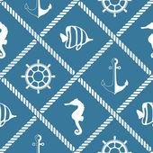无缝航海绳图案 — 图库矢量图片