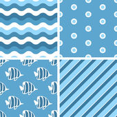 Vector seamless tiling patterns. — Vector de stock