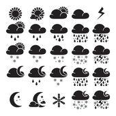 Weather widget interface symbols — Stock Vector