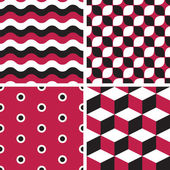 Vector seamless tiling patterns - geometric — Stock Vector