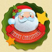 Julkort med jultomten — Stockvektor