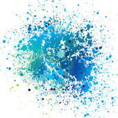 Background with blue spots and sprays. Vector illustration. — Vector de stock