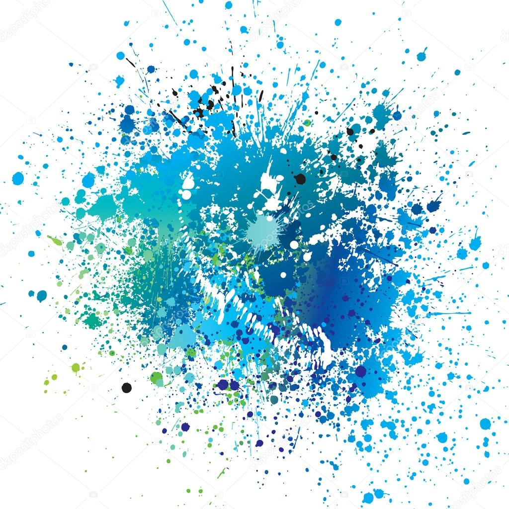 Blue Spray Paint Background Png