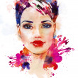 Stock Photo: Fashion illustration of beautiful girl