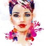 Fashion illustration of the beautiful girl — Stock Photo #35867677