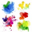 set of watercolor drops and spray — Stock Photo #35868211