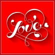 Vector de stock : Lettering LOVE. For themes like love, valentine's day.