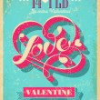 Vintage Valentine poster. Vector illustration. — Stock Vector #40075773