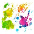 Set of watercolor drops and spray — Stock Photo #43281837