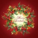 Christmas holly wreath — Stock Photo #8822707