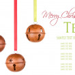Three hanging Christmas or holiday ornaments — Stock Photo