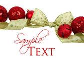 Ornamenti e nastri natalizi — Foto Stock