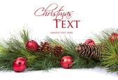 Ramas del pino con adornos de navidad — Foto de Stock