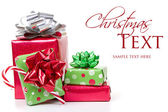 Vánoční dárky skládaný — Stock fotografie
